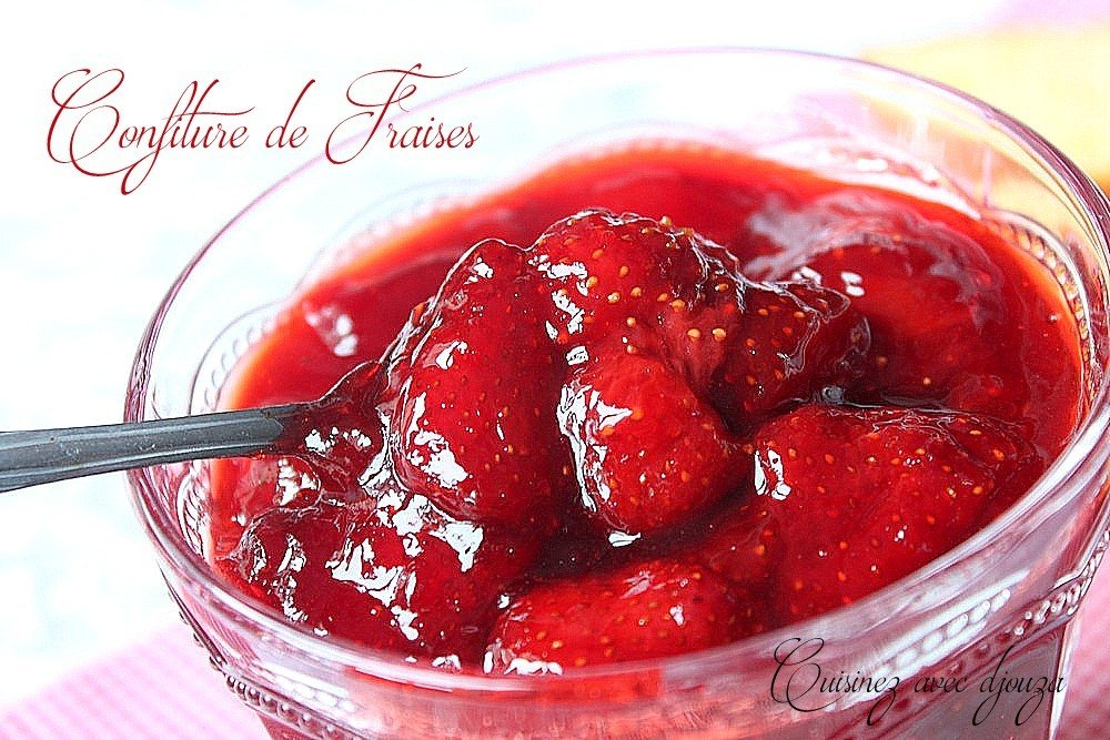 Confiture de fraises entières bio