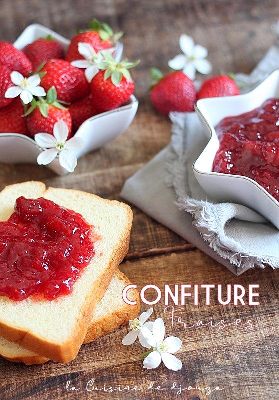 Recette confiture de fraises allégée à l'agar agar
