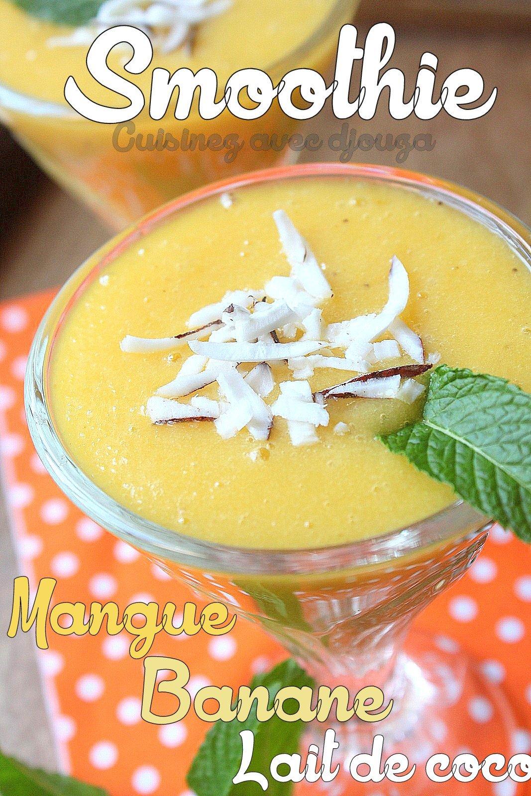 Smoothie mangue banane
