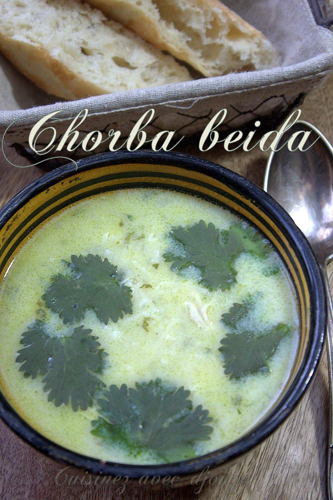 Chorba beida algéroise au poulet