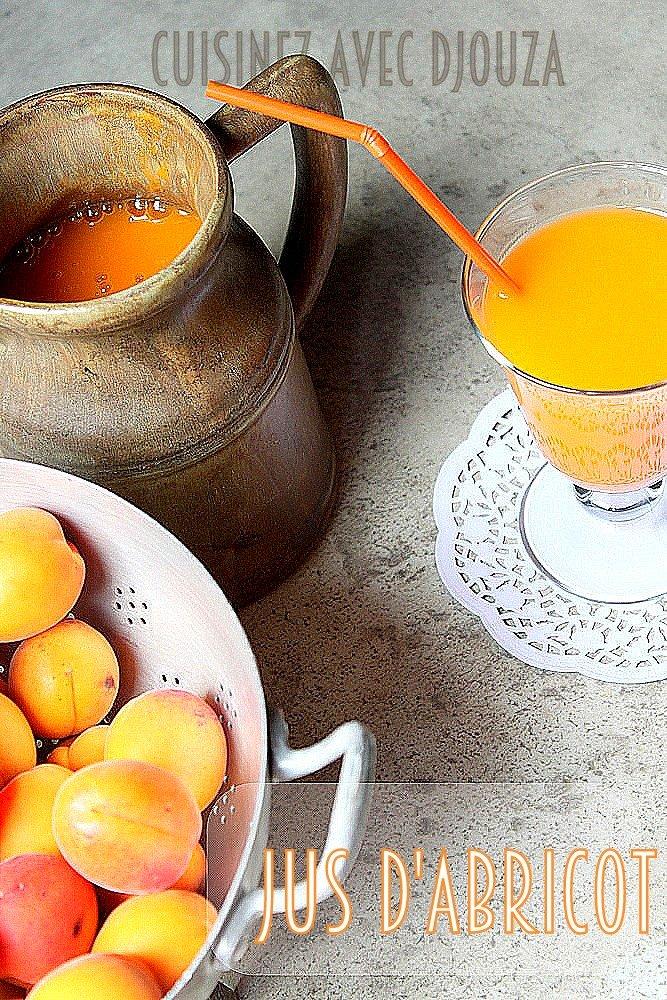 Recette jus ou necta rd d'abricot