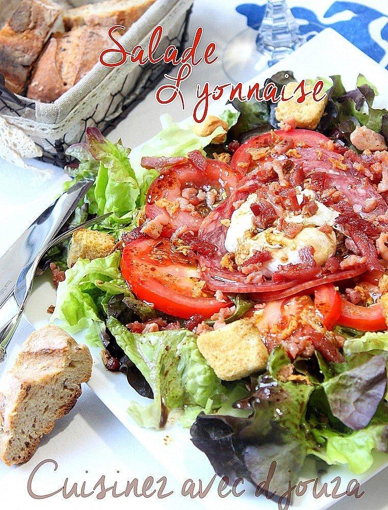 Salade lyonnaise a l'oeuf poché