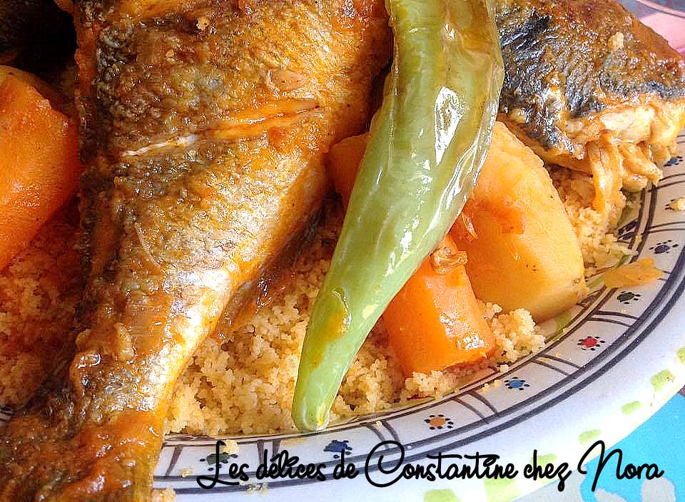 Couscous tunisien au poisson en sauce rouge