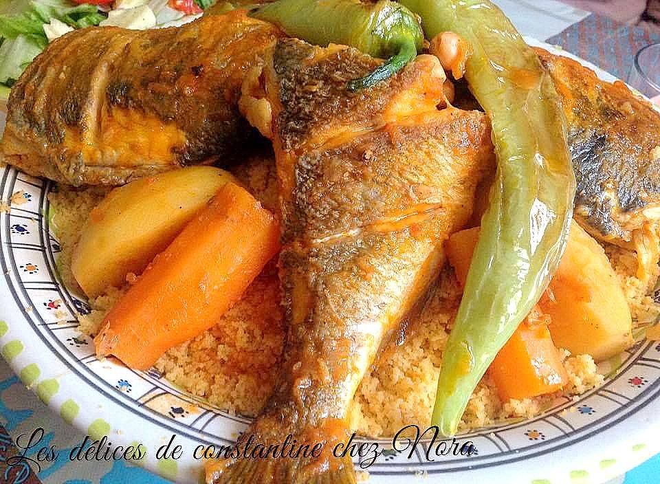 Couscous tunisien au poisson sauce rouge