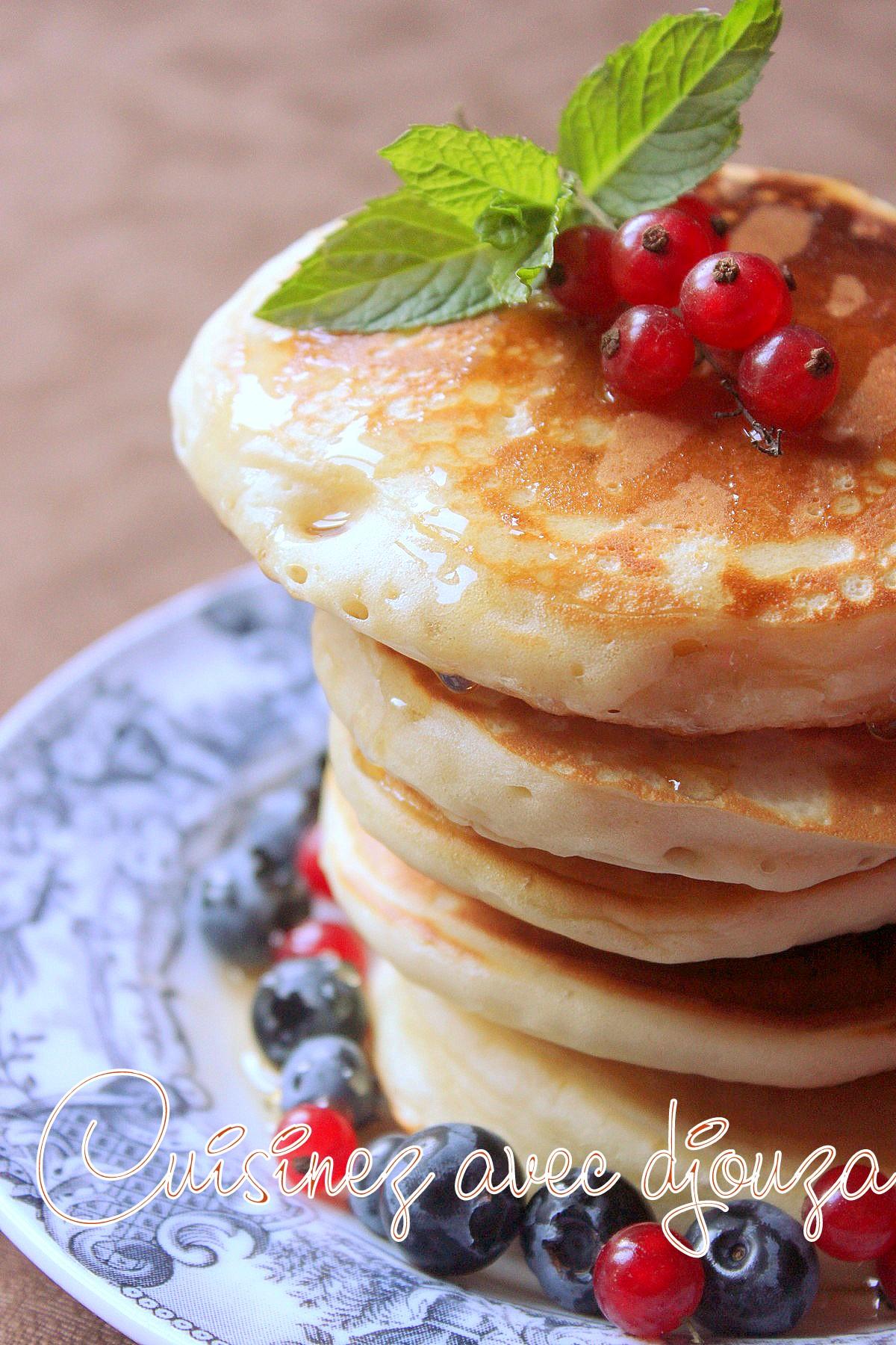 Pancakes rapides et faciles sans oeuf et sans lait