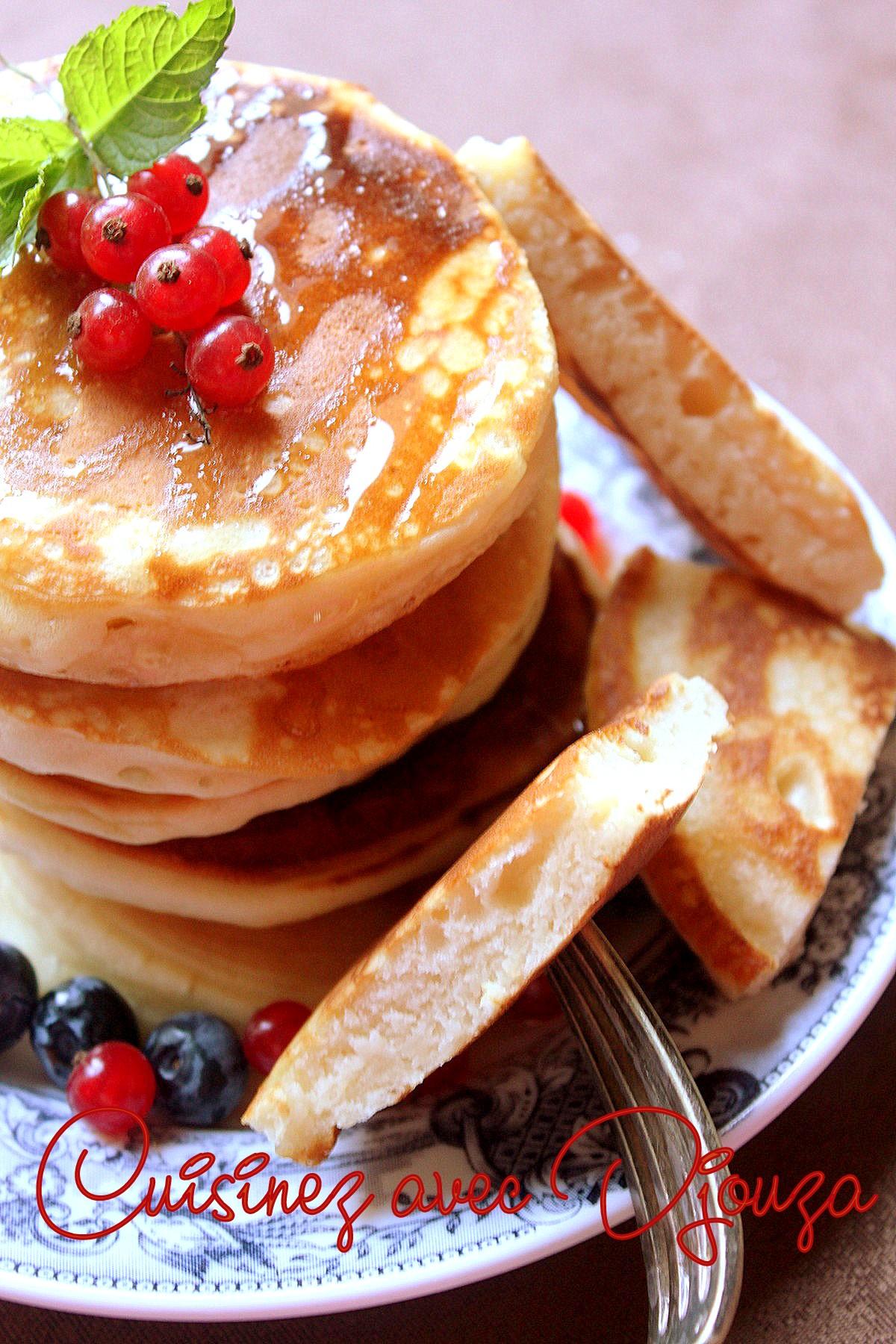 Pancakes sans oeufs ni lait