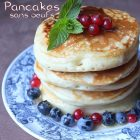 Recette pancakes sans oeufs sans lait