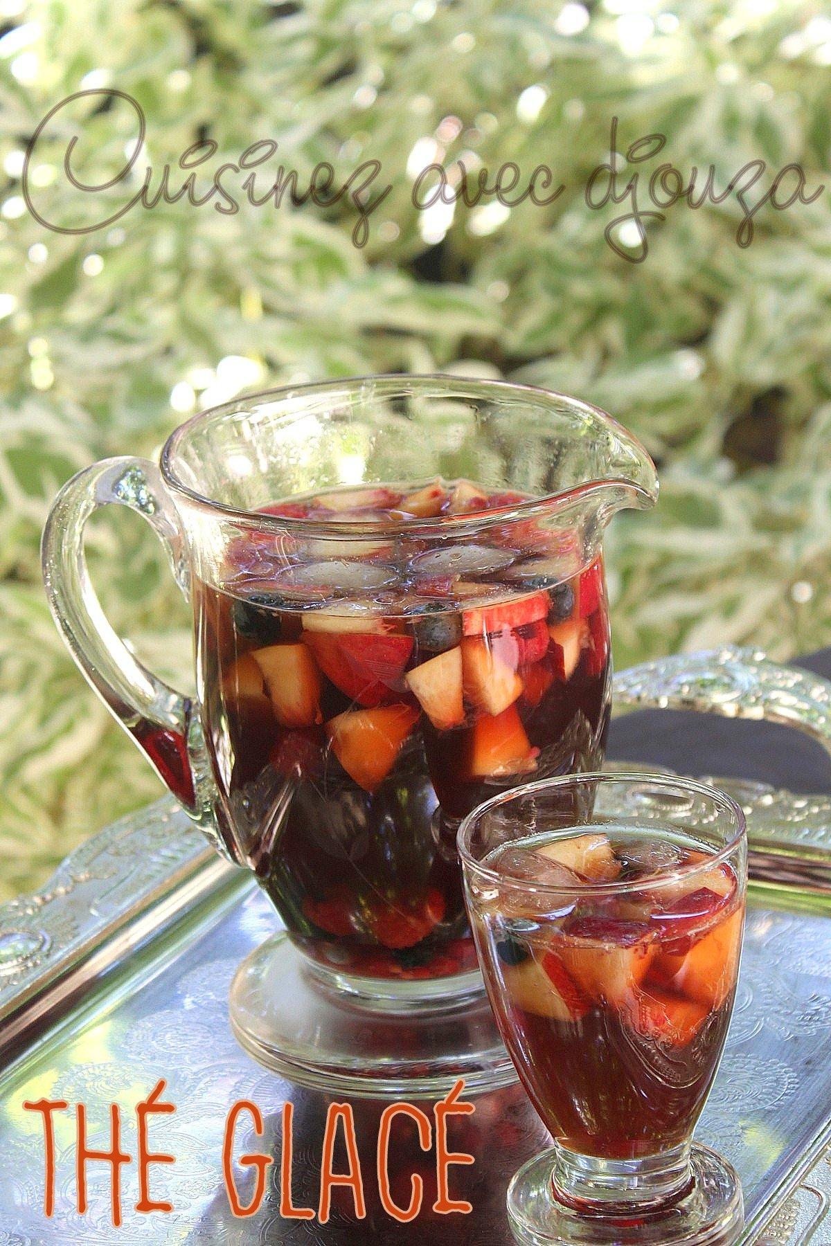 Comment faire du thé glacé maison