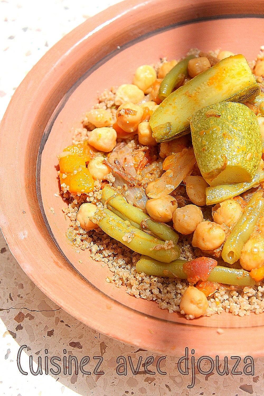 Couscous d'orges kabyle aux légumes