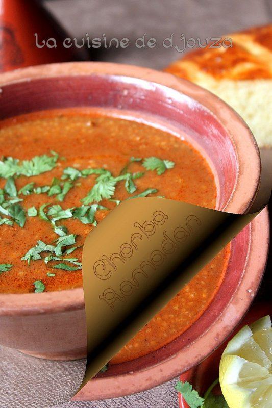 Les chorba du ramadan recettes faciles recettes rapides - Blog de cuisine orientale pour le ramadan ...