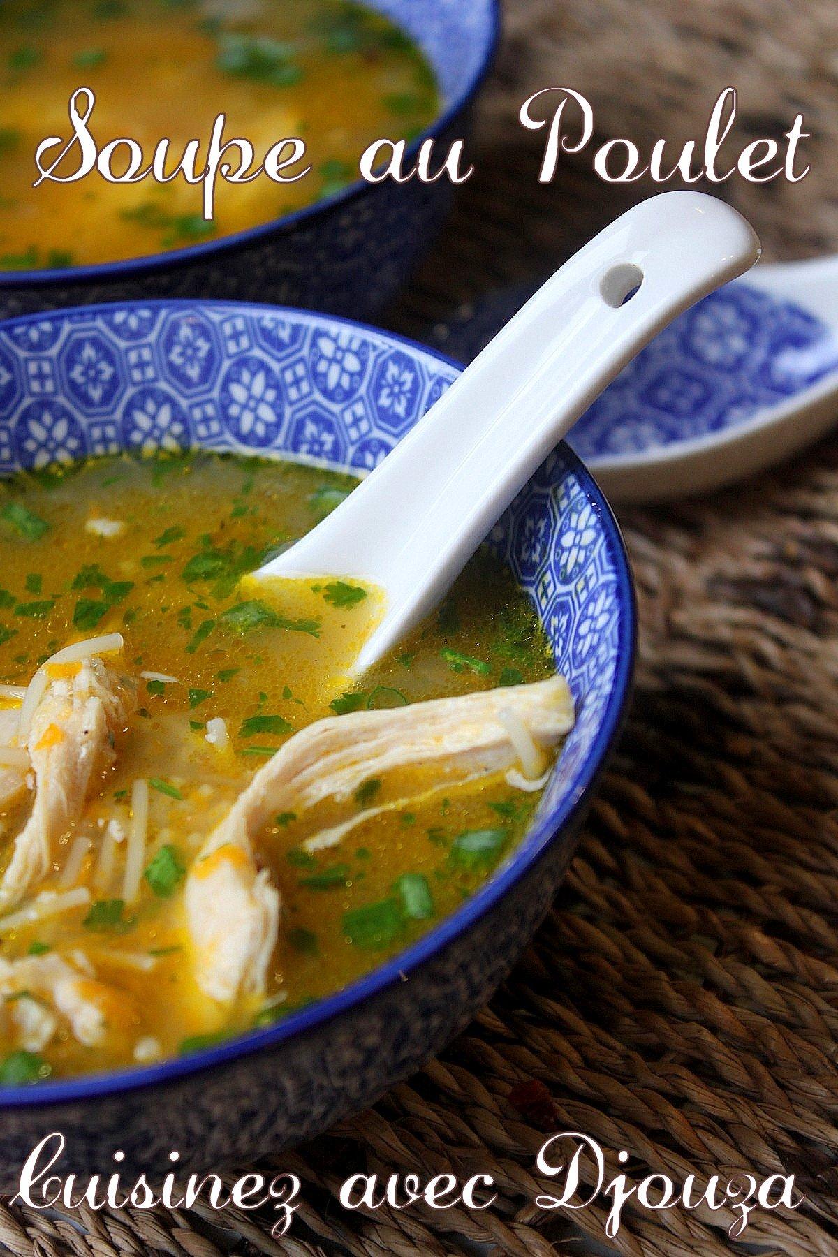 Soupe aux vermicelles et poulet