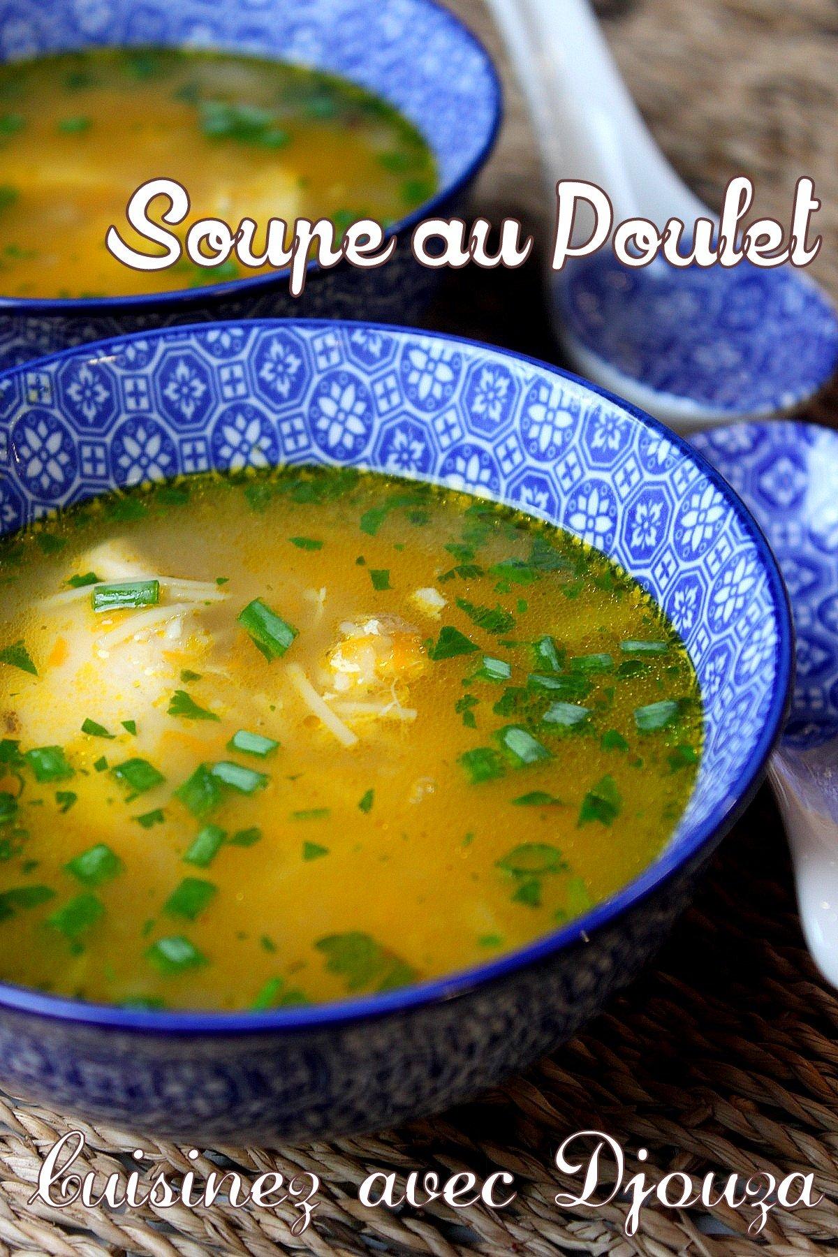 soupe de vermicelle au poulet recettes faciles recettes rapides de djouza