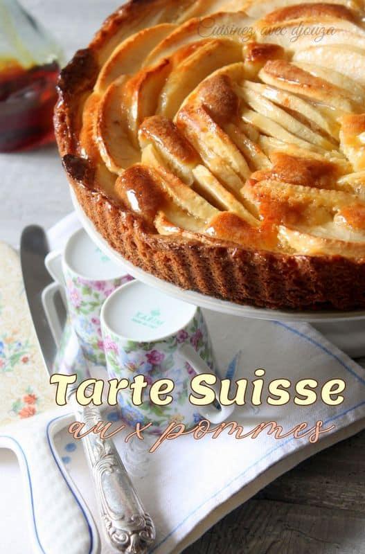Tarte suisse aux pommes fondantes