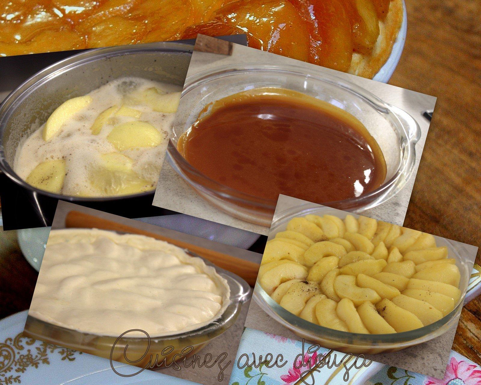 étapes de préparation du dessert