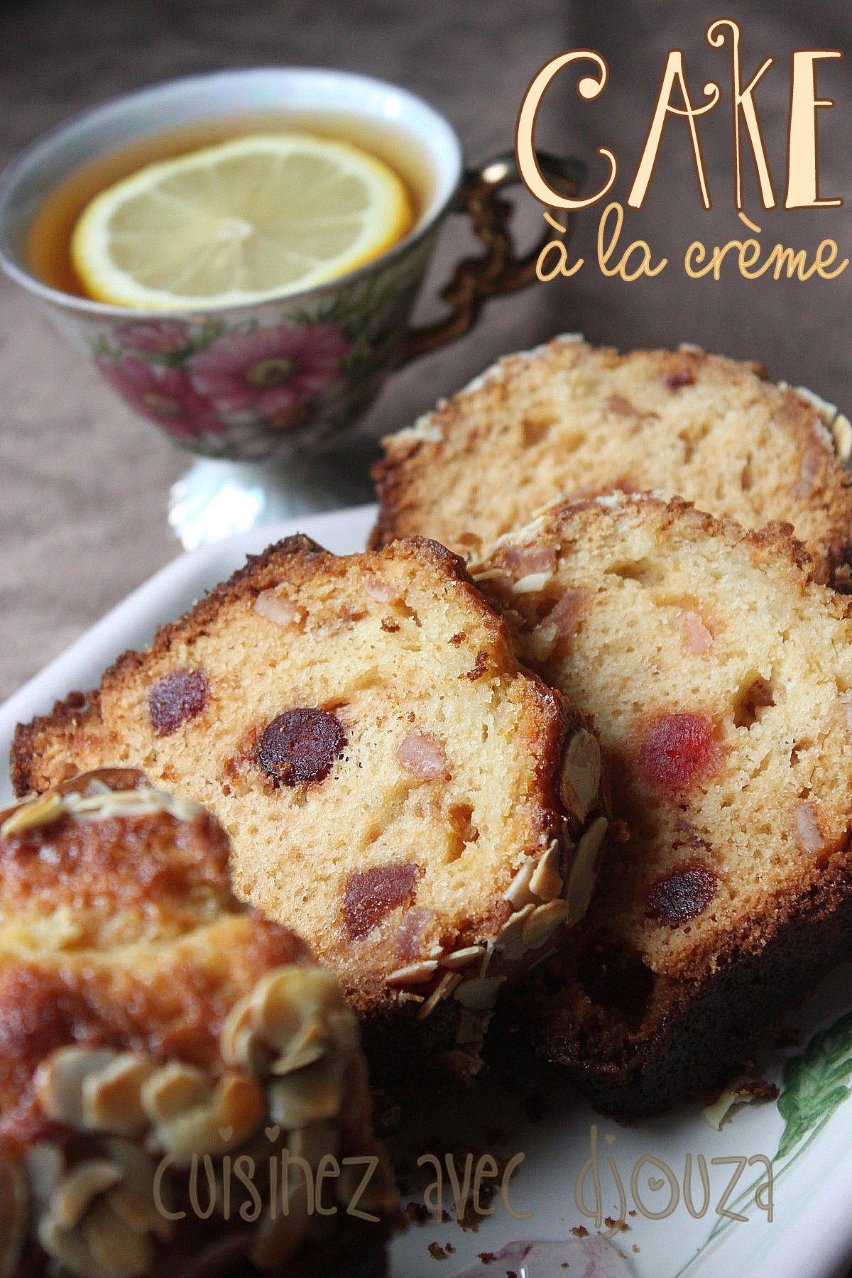 Recette cake crème fraiche et fruits confits