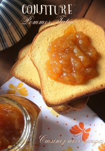 Recette confiture pomme caramel façon tatin