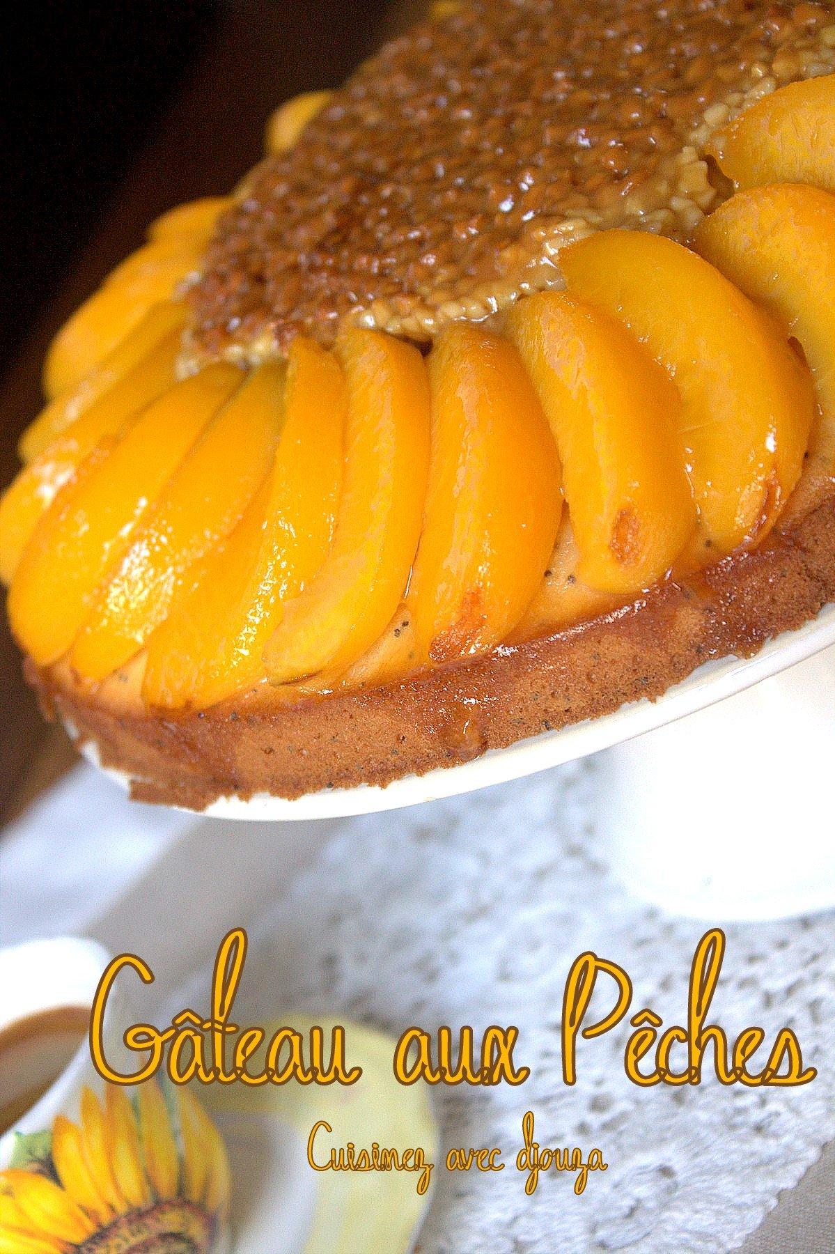 Gâteau à la peche graine de pavot