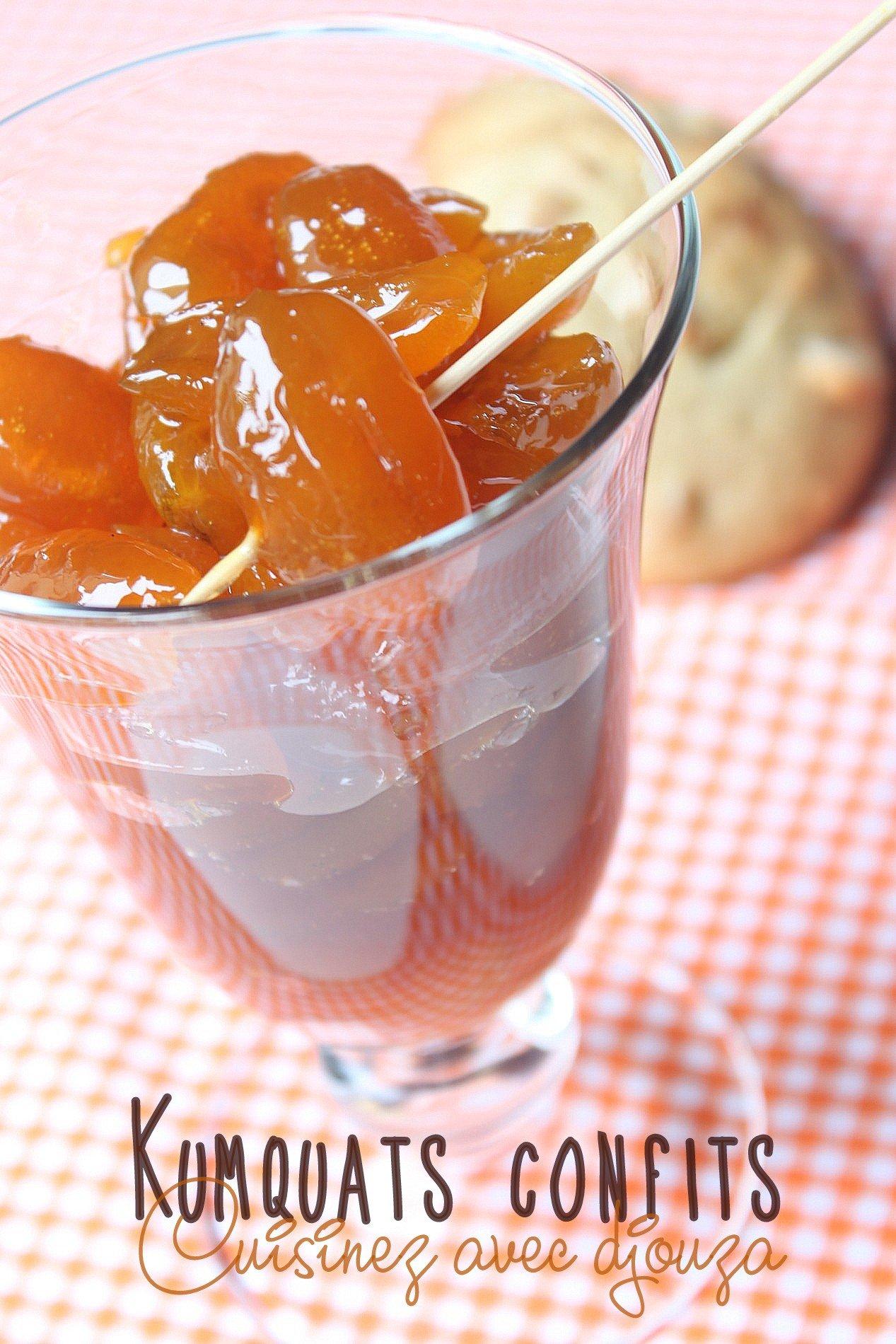 Confire des kumquats