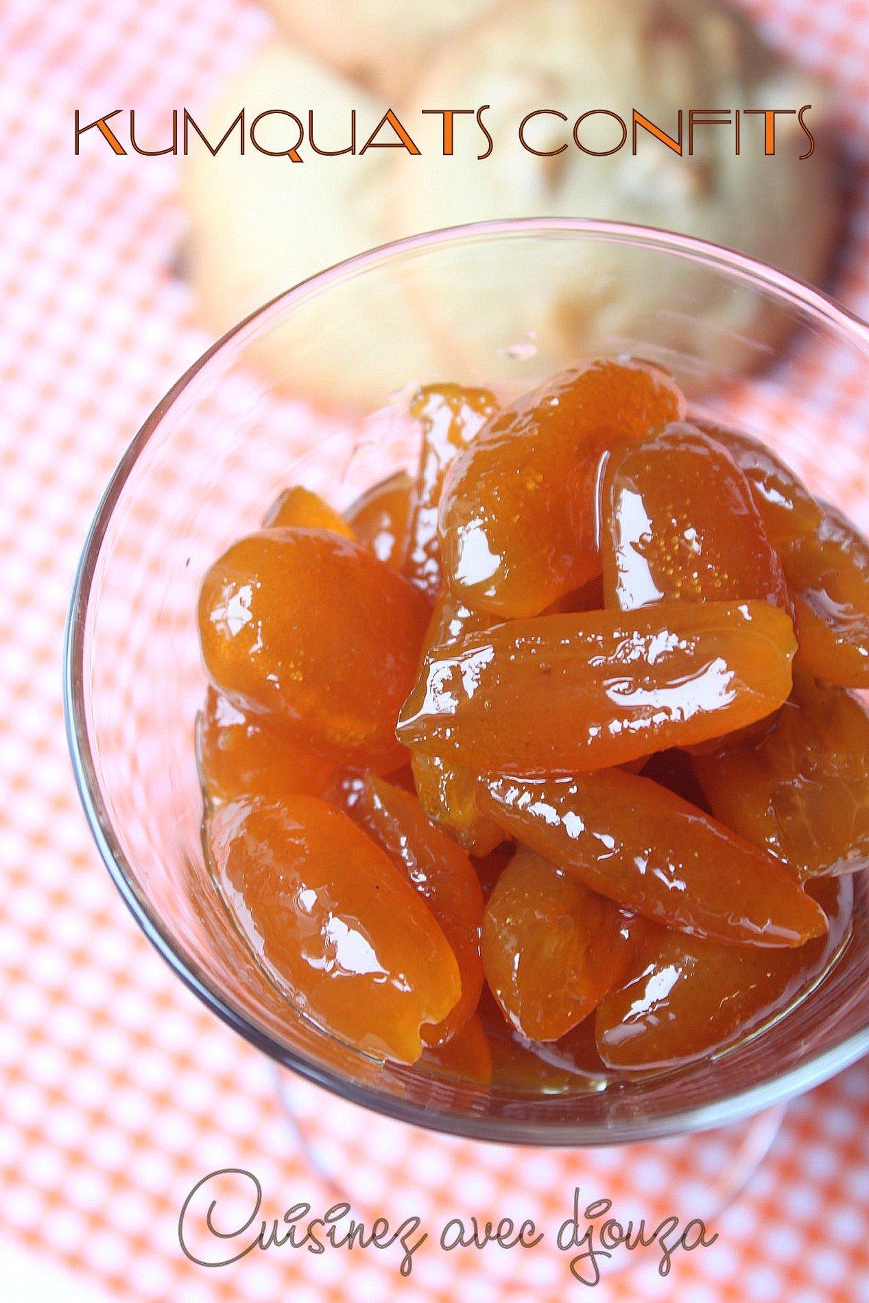 Recette des kumquats confits