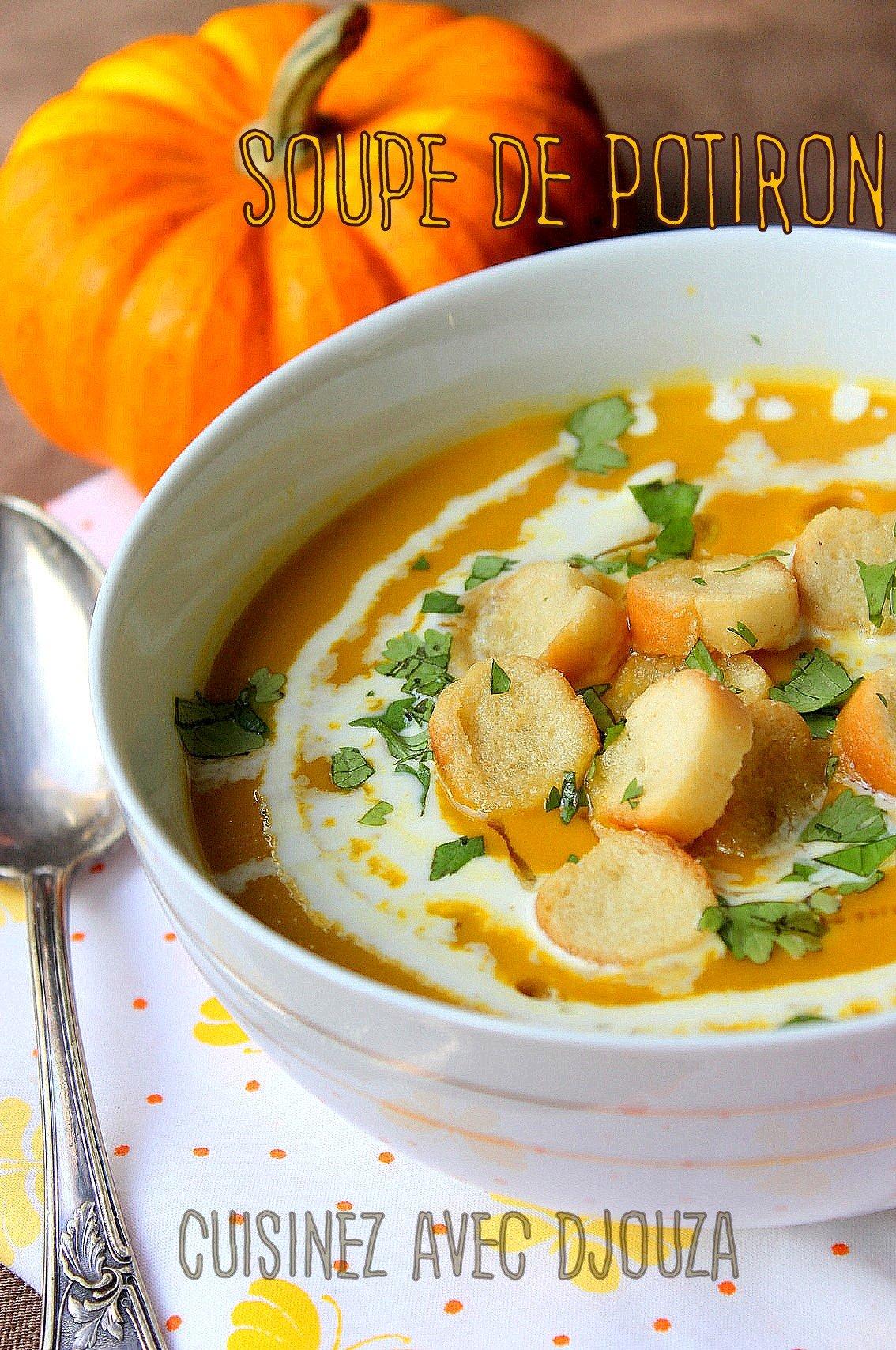 soupe de potiron au poulet facile recettes faciles recettes rapides de djouza. Black Bedroom Furniture Sets. Home Design Ideas