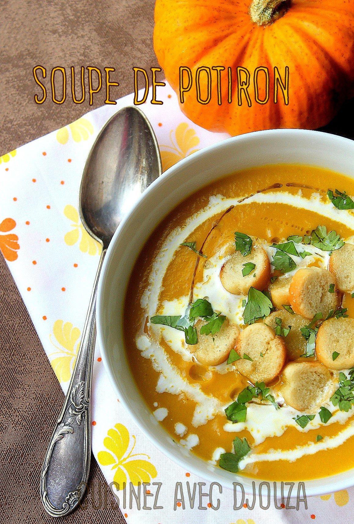 Recette soupe de potiron au poulet