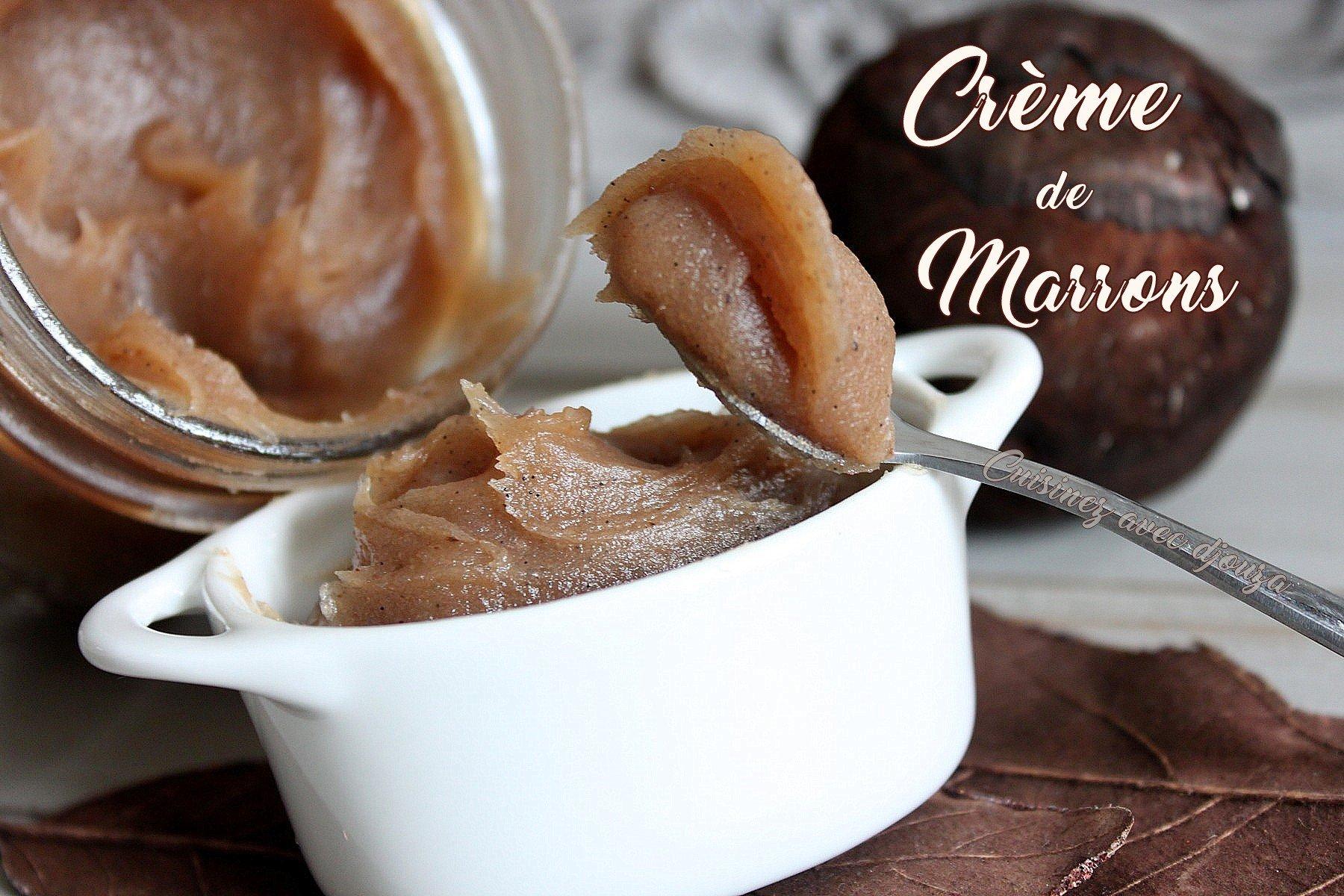 recette de la cr u00e8me de marrons ou ch u00e2taignes