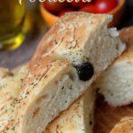 Focaccia pain italien à lhuile dolive
