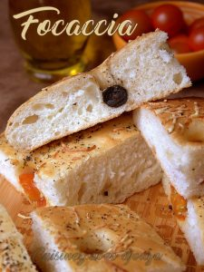 Focaccia ou fougasse italienne