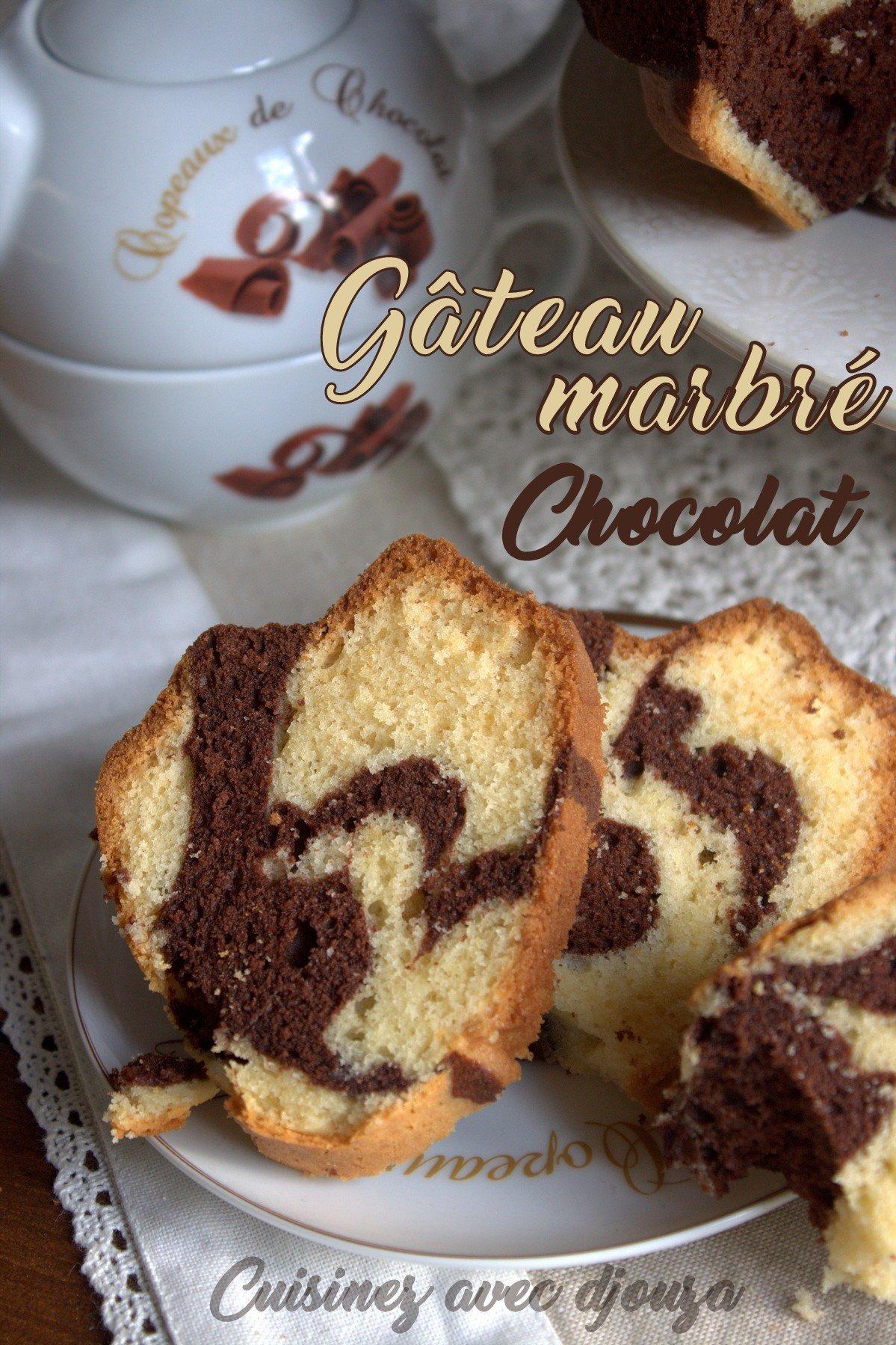 Recette du gâteau marbré