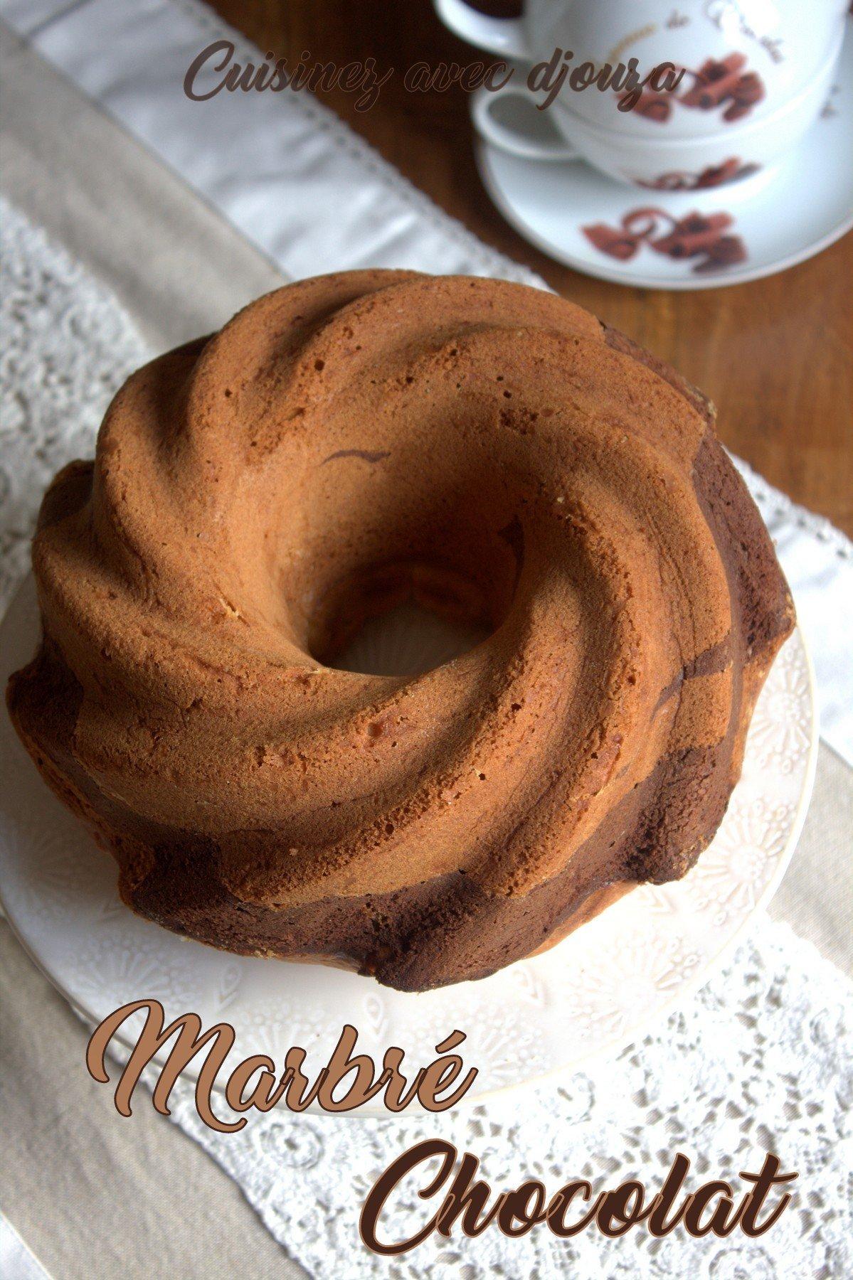 Recette gateau marbré chocolat