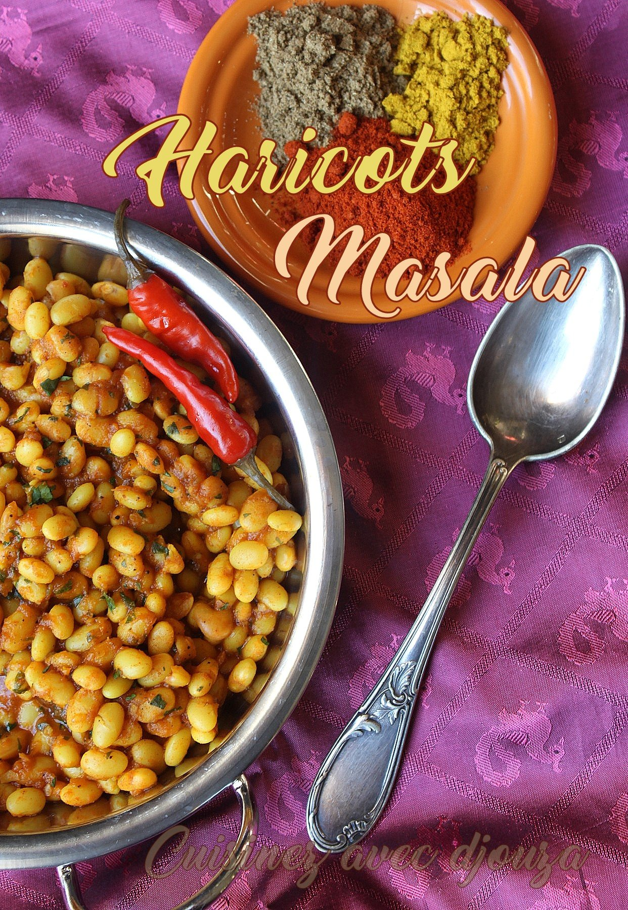 Haricots blancs masala recette indienne