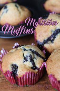 Recette muffins aux myrtilles fraiches