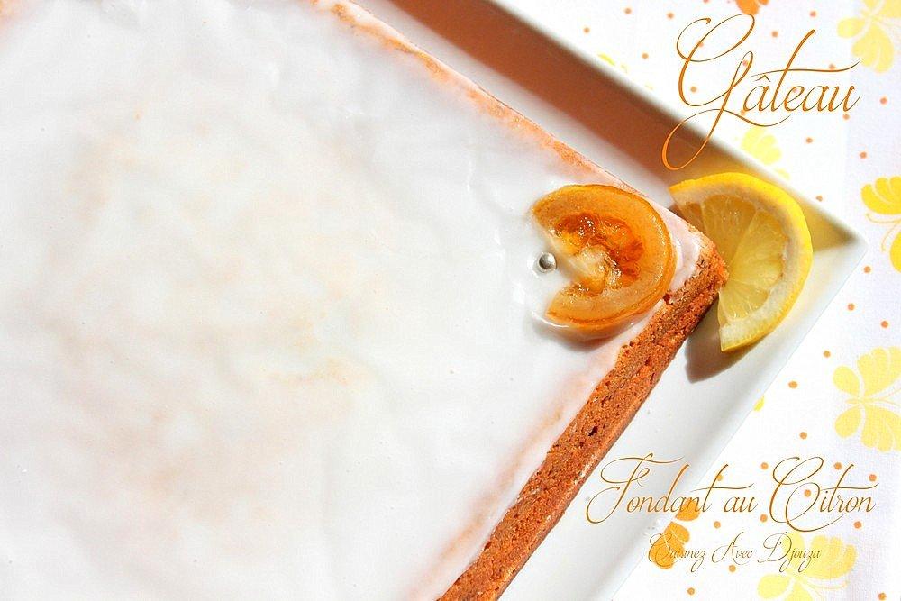 Gateau fondant au citron graines de pavot