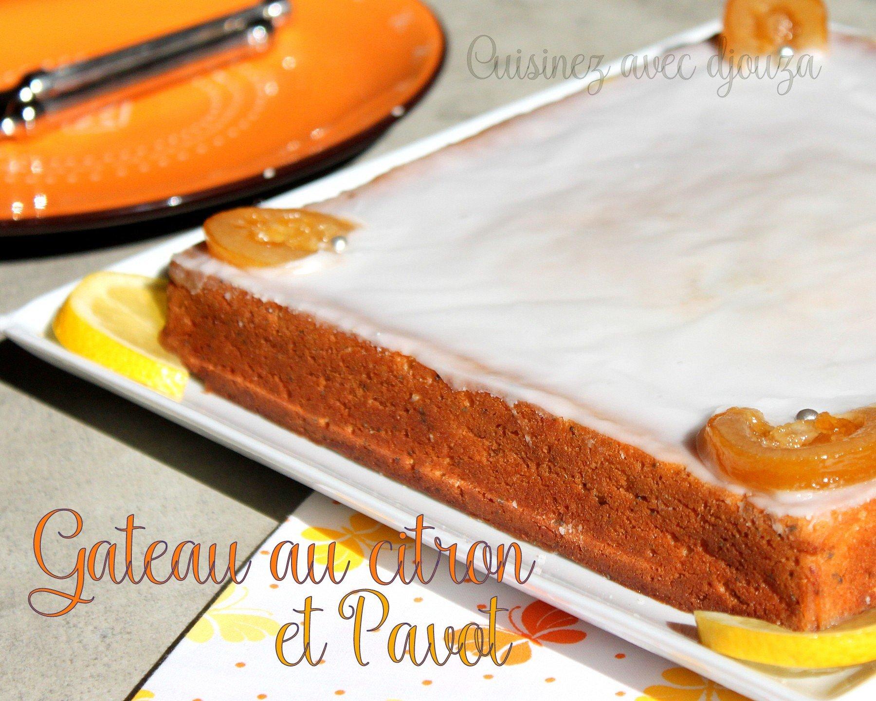 Gâteau aux citrons lait ribot et pavot