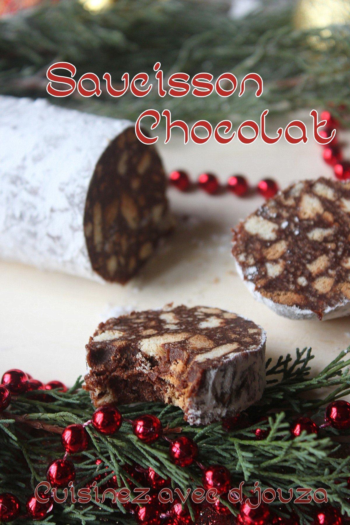 Saucisson au chocolat maison
