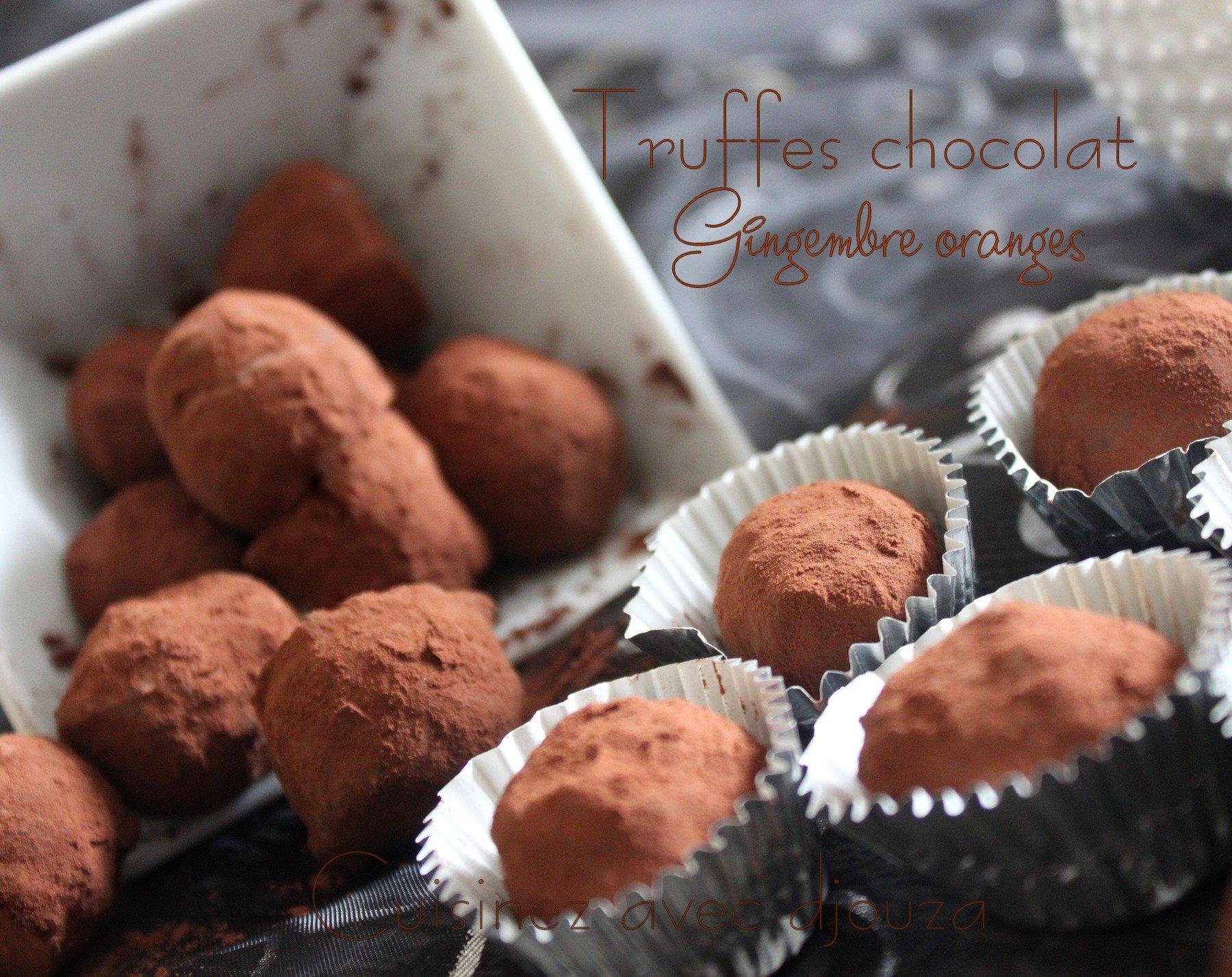 Truffes au chocolat noir et gingembre
