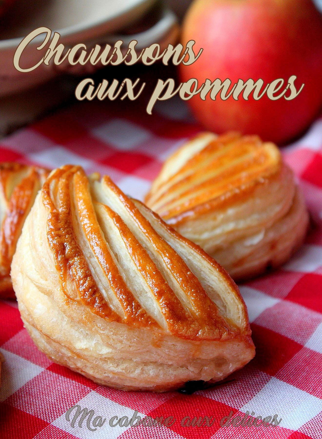 Chaussons aux pommes pate feuilletée