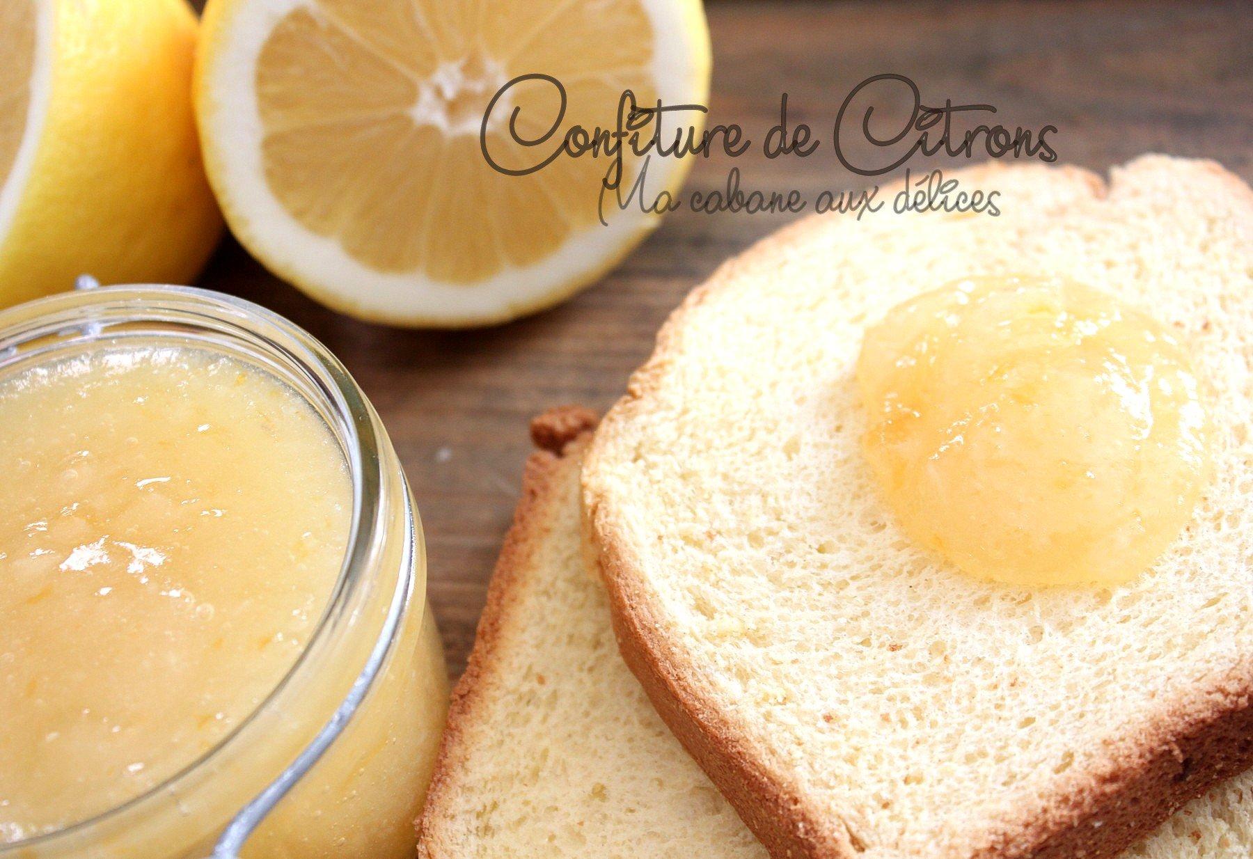 Confiture de citrons jaunes de Menton