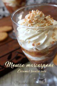 Mousse de mascarpone aux pommes et caramel