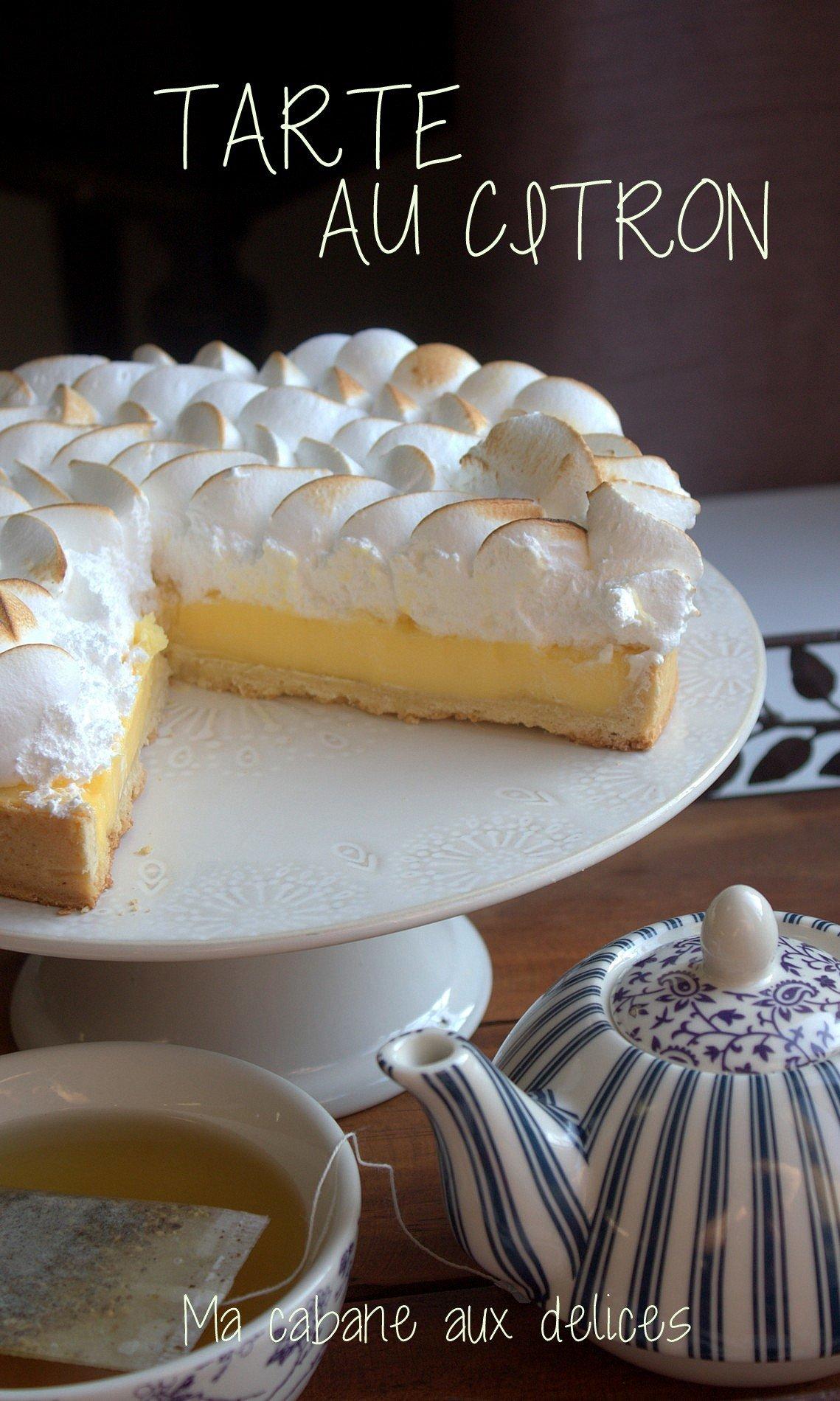 Vraie recette tarte citron meringu e recettes faciles recettes rapides de djouza - Recette tarte citron meringuee ...
