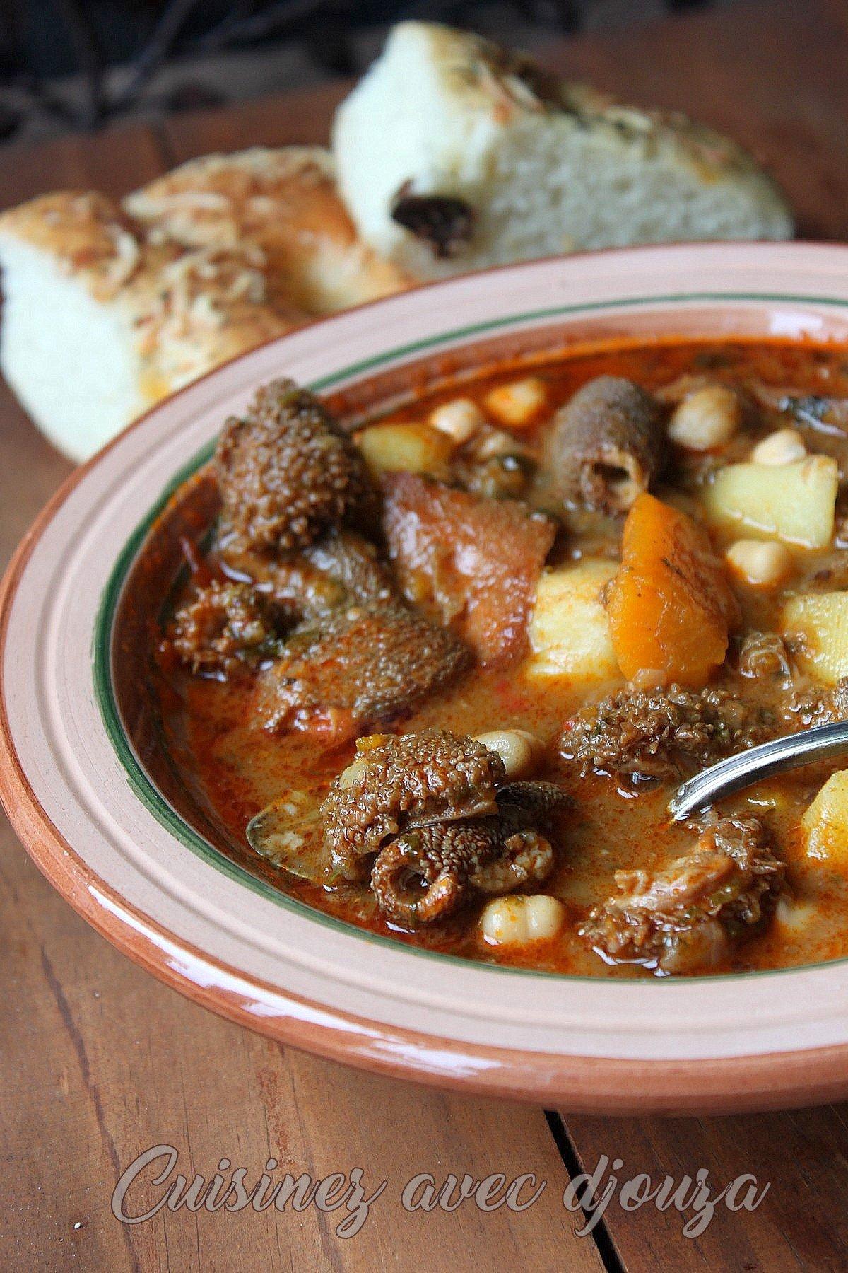 panse cuisinée à l'algérienne