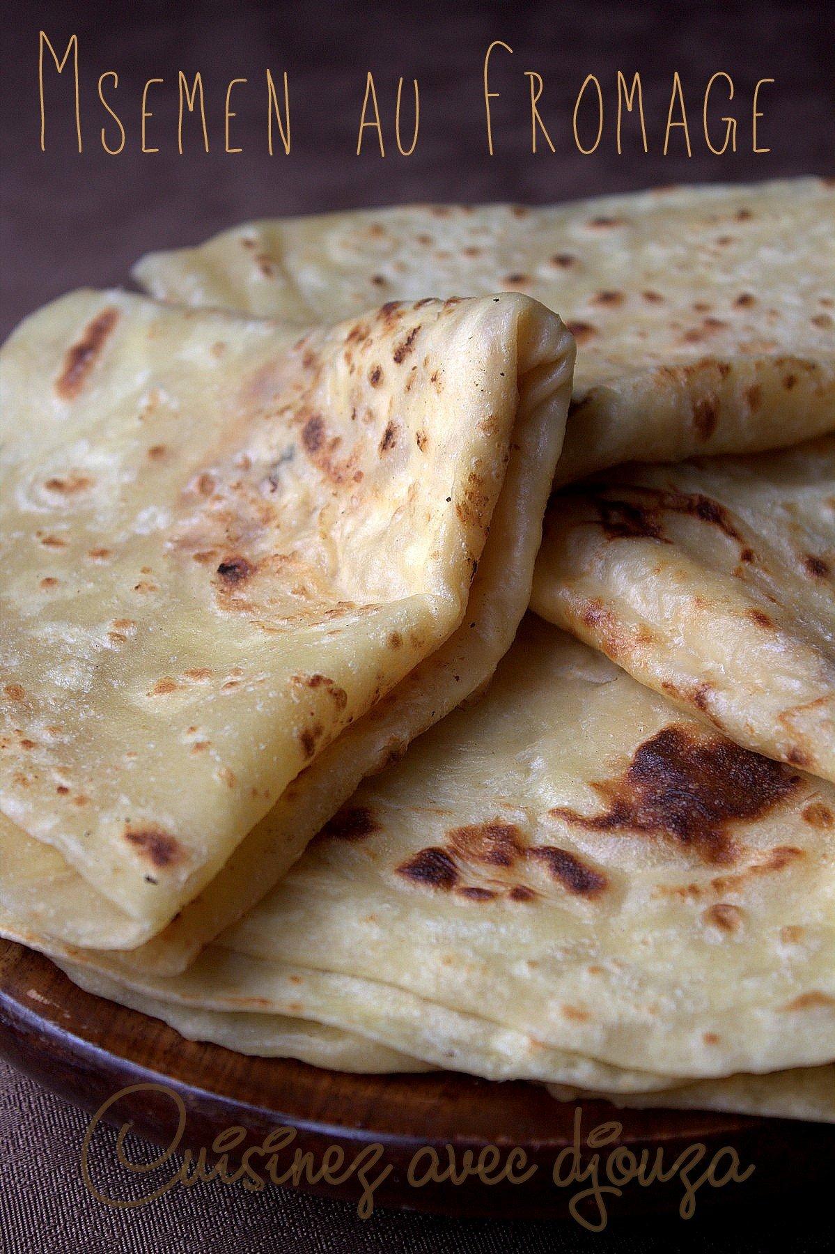 Recette Msemen façon cheese naan