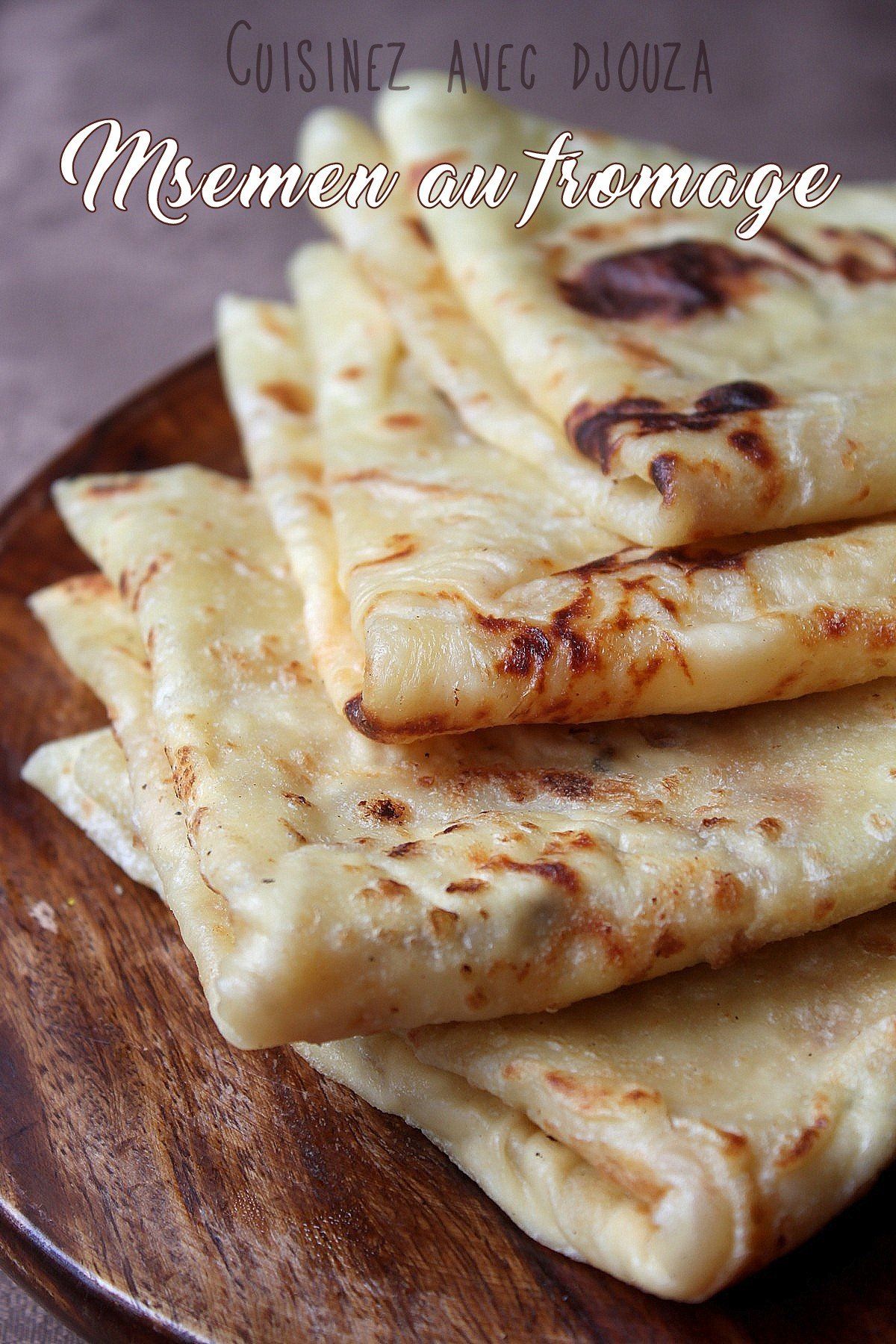 Crêpes rondes msemen au fromage