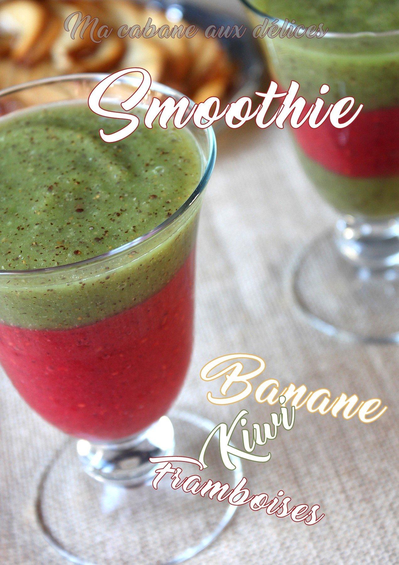Recette smoothie au blender kiwi banane