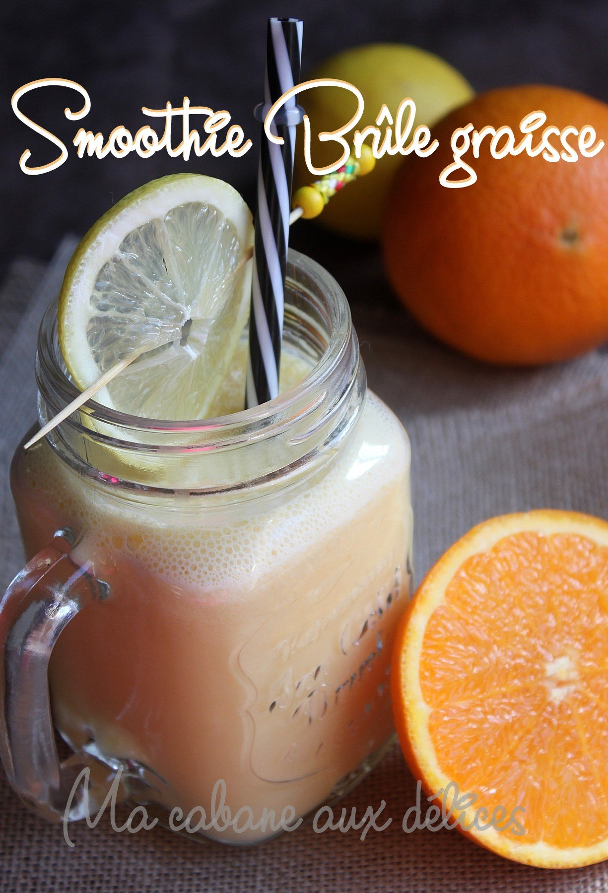 Smoothie detox orange citron