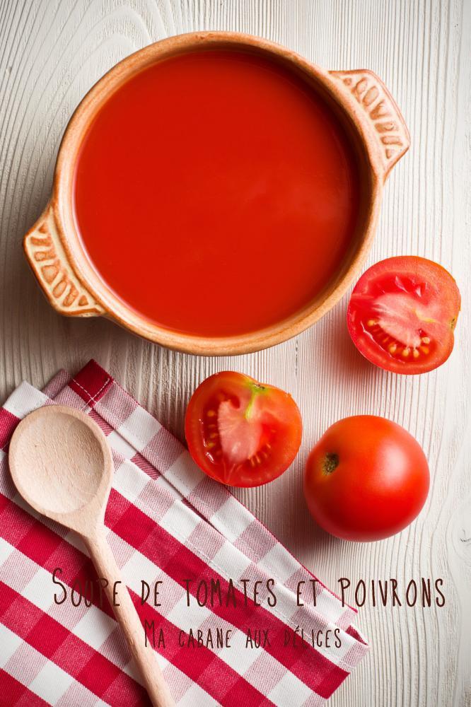 Soupe ou velouté de tomates et poivrons rouges