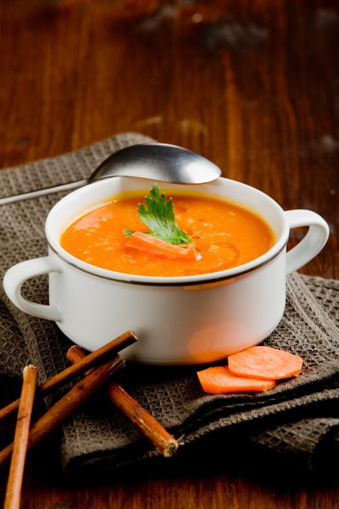 Soupe ou velouté de carottes d'hiver