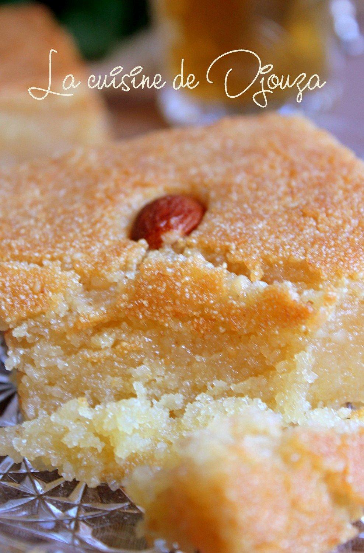 Gâteau de semoule qalb el louz facile