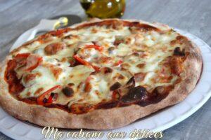 Pizza poivrons champignons mozza