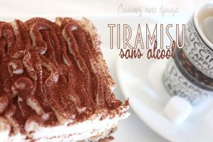 Tiramisu café sans alcool